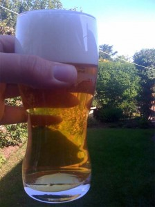 First pint of Home Draught on beer blog
