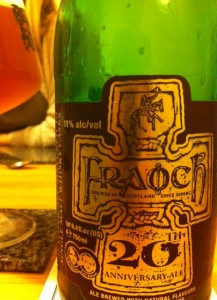 fraoch 20th anniversary beer on beer reviews beer blog