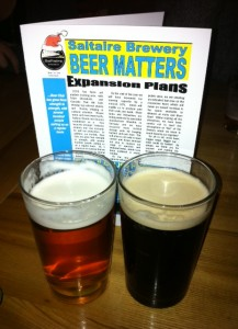 Saltaire beers at meet the brewer night