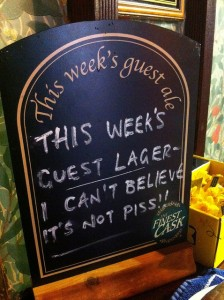 This weeks Guest Lager