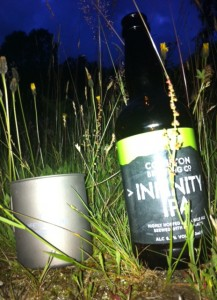 Coniston Infinity IPA from a Titanium Mug