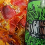 Magic Rock Human Cannonball and Blue Cheese and Mango Chutney Tart