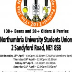 Newcastle Beer Festival 18th April – 21st April 2012