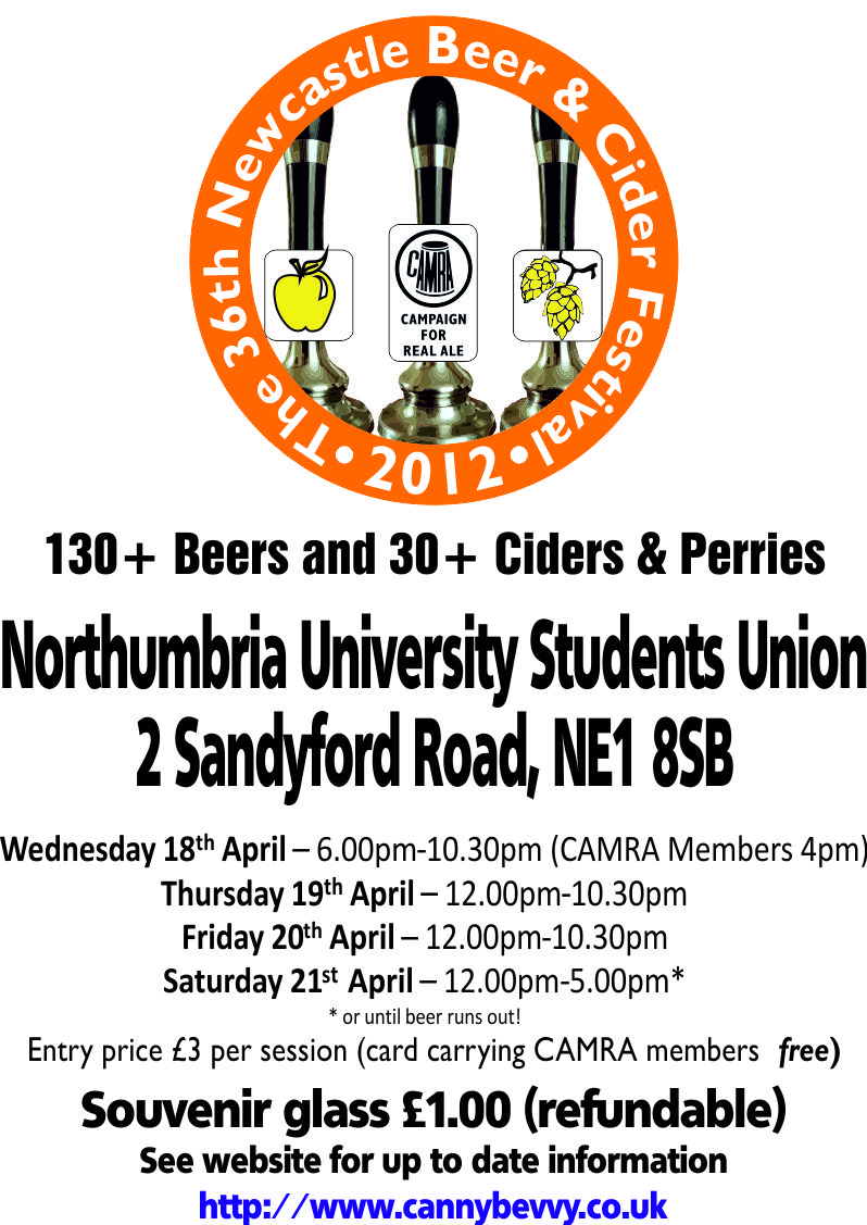2012 Newcastle Beer Festival Poster
