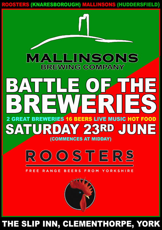 Battle of the breweries, mallinsons vs roosters