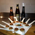 nibbles and beer at Sharps Connoisseur Cook off