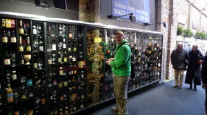a bit of the beer wall