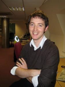 Fergus smiles for the camera