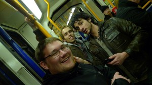 Twissup on the tram