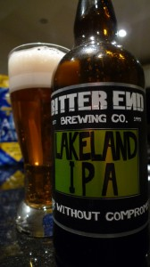 Lakeland IPA from the Bitter End Brewing Co