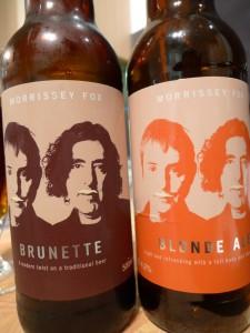 Morrissey Fox Blonde and brunette beer reviews