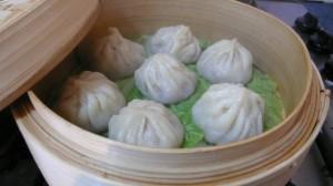 Dumplings steaming