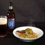 Cooking with beer: Pan Fried Beer Marinated Pork with Pearl Barley and Soy Beans