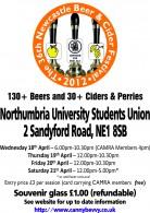2012 Newcastle Beer Festival Poster