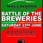 Battle of the Breweries: Mallinsons vs Roosters @ The Slip Inn, York, 23rd June
