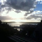 Padstow from the top of the hotel carpark