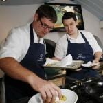 Me plating up at Sharps Connoisseur Cook off