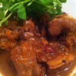 Slow Cooked Pork in Kriek Beer and sour cherries