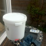 Brewing on the patio in the sun